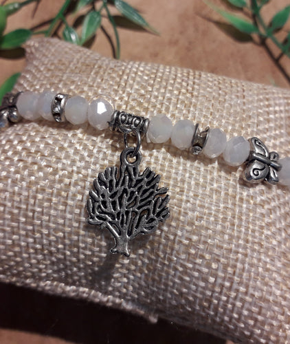 Butterfly Tree Bracelet White