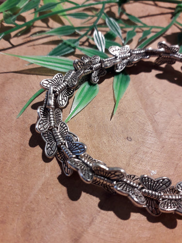 Circle of Butterflies Bracelet Silver