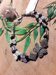 Butterfly Family Bracelet Black