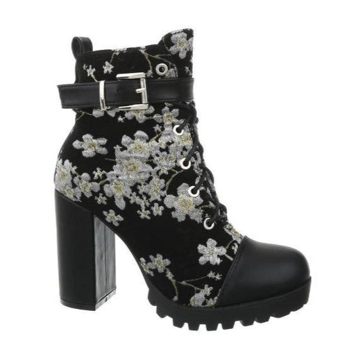 Blossom Boots Black