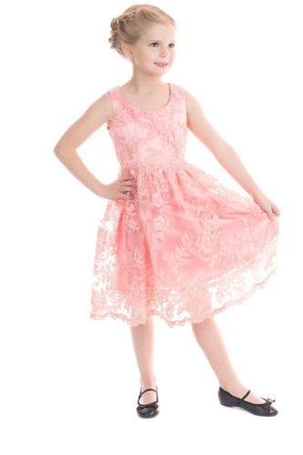 Pink Chantilly Kids Dress