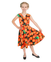 Load image into Gallery viewer, Ann Cherry Black Kids Dress