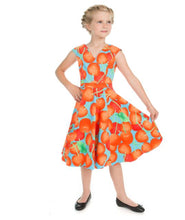 Load image into Gallery viewer, Ann Cherry Blue Kids Dress