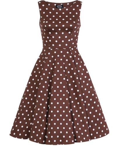 Chocolate Dot Dress Brown