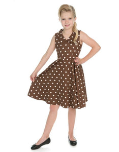 Chocolate Dot Kids Dress Brown
