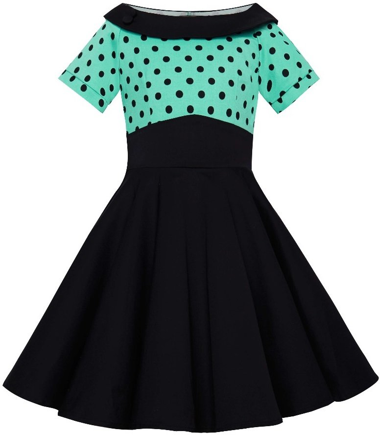 Darlene Kids Dress Turquoise Black
