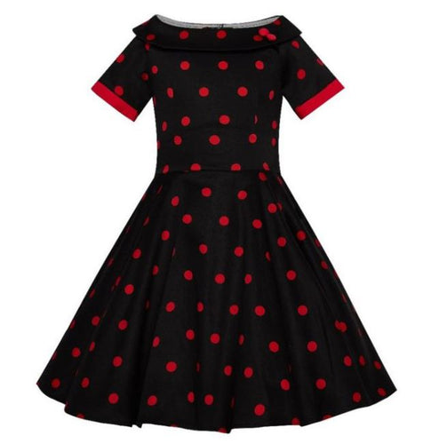 Darlene Kids Dress Black Red