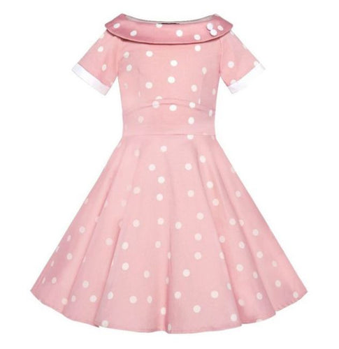 Darlene Kids Dress Pink White