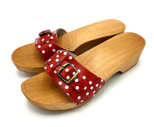 Load image into Gallery viewer, Dina Sandal Clogs Red Polka Dot