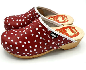 Dina Clogs Red Polka Dot