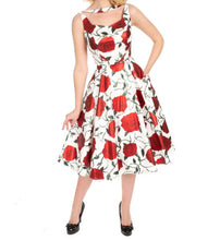 Load image into Gallery viewer, Metalic Rose Dress White