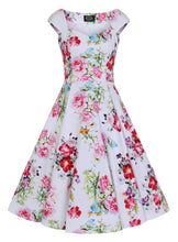 Load image into Gallery viewer, Paradise Rose Dress White