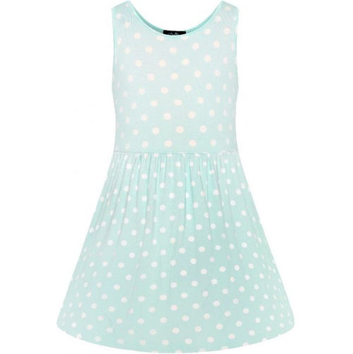 Polly Polka Kids Dress Blue