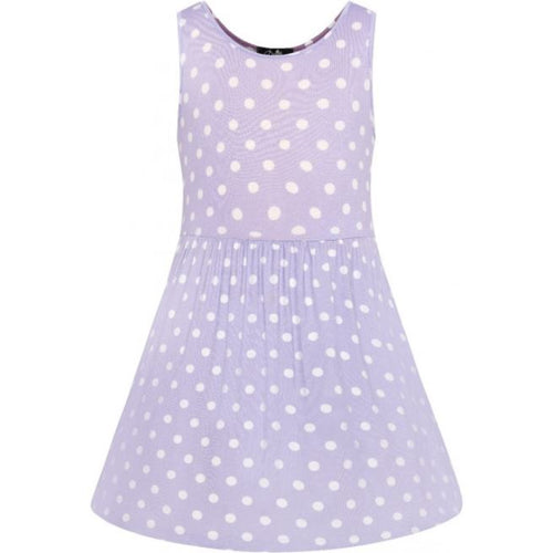 Polly Polka Kids Dress Lilac