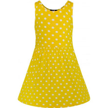 Load image into Gallery viewer, Polly Polka Kids Dress Yellow