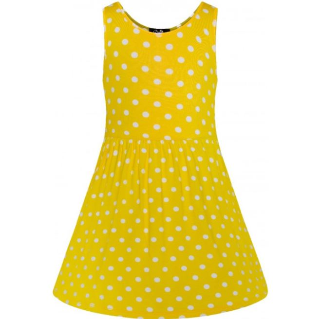 Polly Polka Kids Dress Yellow