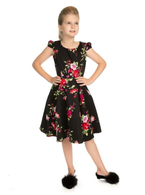 Royal Midnight Kids Dress Black