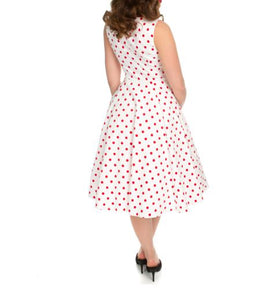 Cintia Red Polka Dot Dress