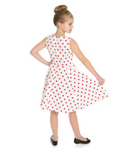 Load image into Gallery viewer, Cintia Red Polka Dot Kids Dress
