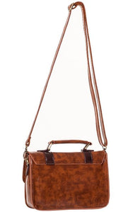Small Retro Handbag Dark Brown