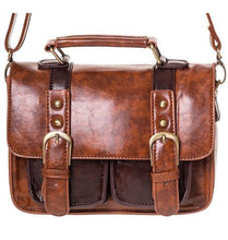 Load image into Gallery viewer, Small Retro Handbag Dark Brown