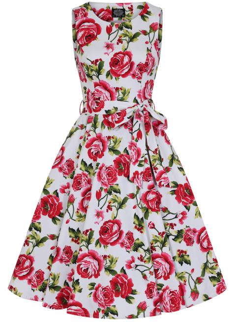Sweet Rose Dress White