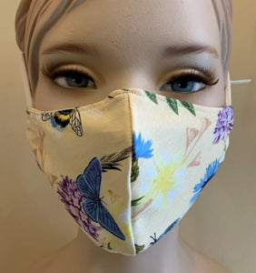 Madchique Face Mask Yellow Butterfly