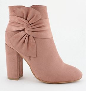 Betty Bow Boots Pink