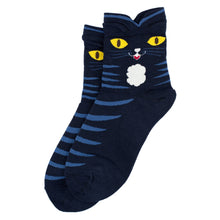 Load image into Gallery viewer, Bert Socks Black Cat