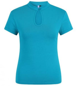 Collar Top Blue