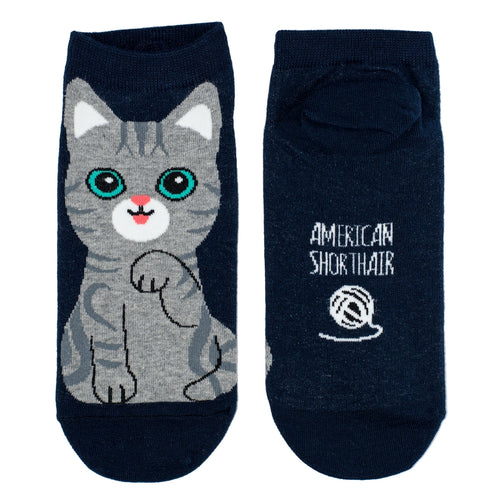 Bert Socks Instap Cute Cat Grey