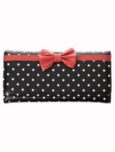 Load image into Gallery viewer, Bow Dots Wallet Black