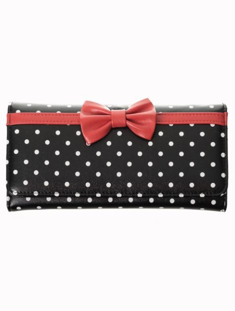 Bow Dots Wallet Black