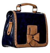 Load image into Gallery viewer, Bow Retro Handbag Dark Blue