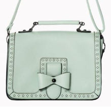 Load image into Gallery viewer, Bow Retro Handbag Mint