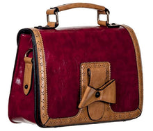 Load image into Gallery viewer, Bow Retro Handbag Red