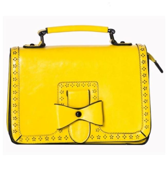 Bow Retro Handbag Yellow
