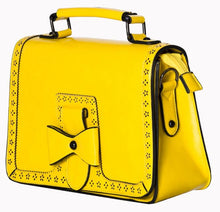 Load image into Gallery viewer, Bow Retro Handbag Yellow