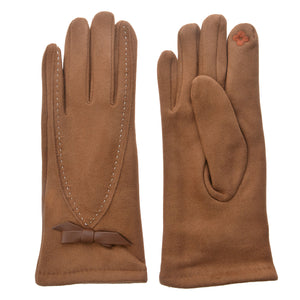 Bow Stick Gloves Brown