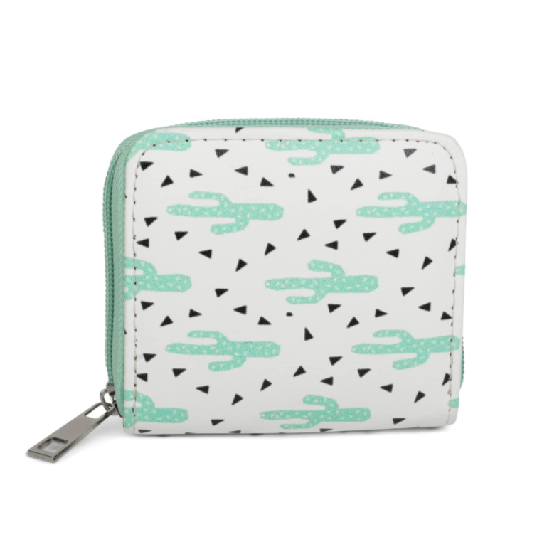 Mint Cactus Wallet Small