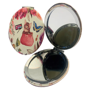 Cute Kitten Oval Mirror