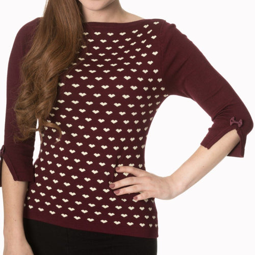Charming Heart Top Red