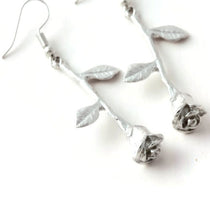 Load image into Gallery viewer, Dangle Rose Earrings