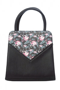 Flamingo Bow Bag Black