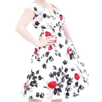 Franky Floral Dress White