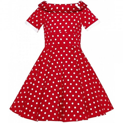 Darlene Kids Dress Red