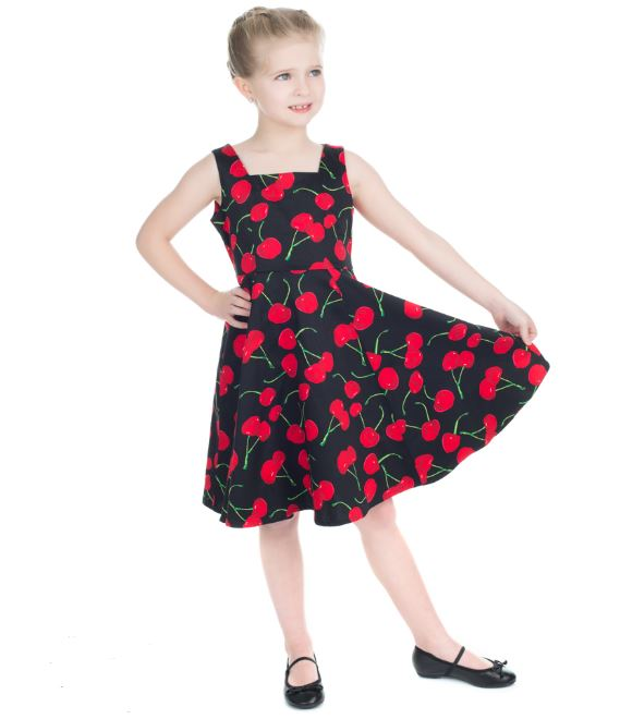 Kids Cherry Dress Black