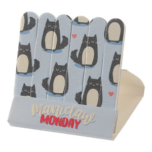 Cat Matchbook Nail Files Blue