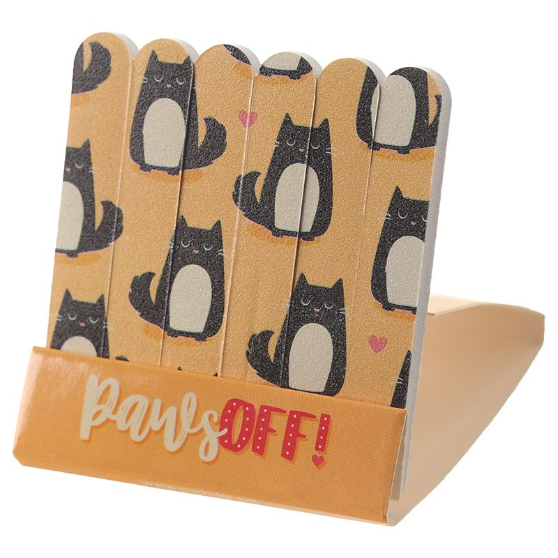 Cat Matchbook Nail Files Orange