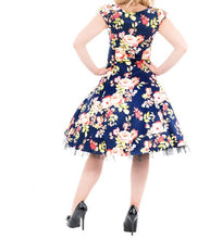 Load image into Gallery viewer, Navy Blue Floral Dress